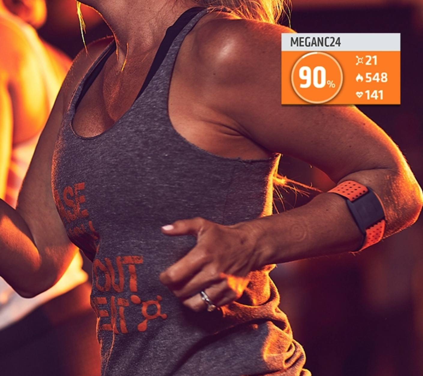 HEART-RATE BASED INTERVAL TRAINING - Backed by the science of Excess Post-Exercise Oxygen Consumption (or EPOC), Orangetheory's heart rate monitored training is designed to maintain a target zone that stimulates metabolism and increases energy. We call it the afterburn. Our members burn an estimated 500 to 1,000 calories in 60 minutes.** And keep burning calories for up to 36 hours.**Including the afterburn. Individual results may vary.** Based on intensity level, participants can burn an expected average of 15-20% more calories above their standard resting calorie burn.