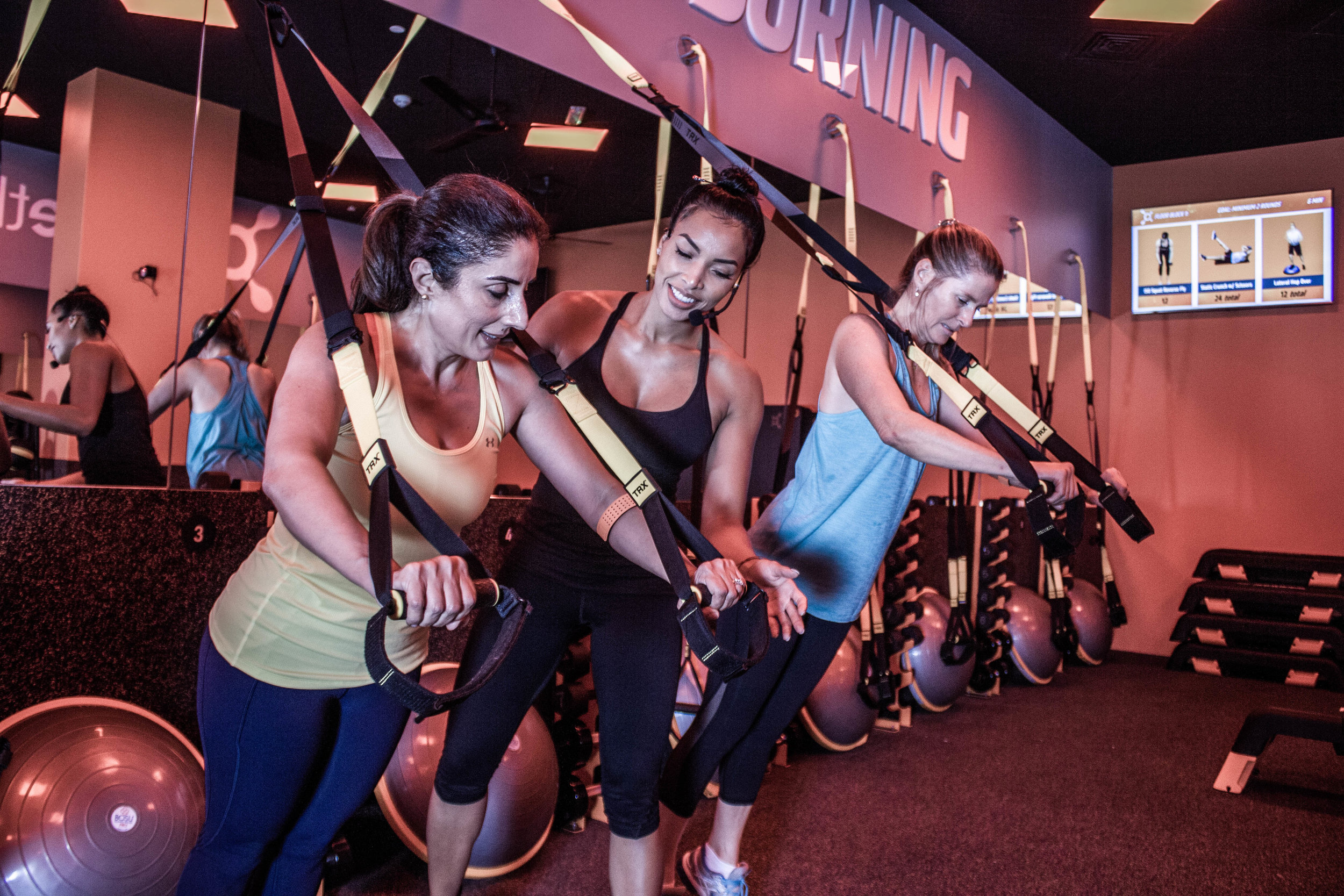 COACH SUPPORT - At Orangetheory, you'll get the energy of a group workout with the attention of an experienced personal coach. Our coaches are knowledgeable, encouraging and are committed to helping you meet your fitness goals.