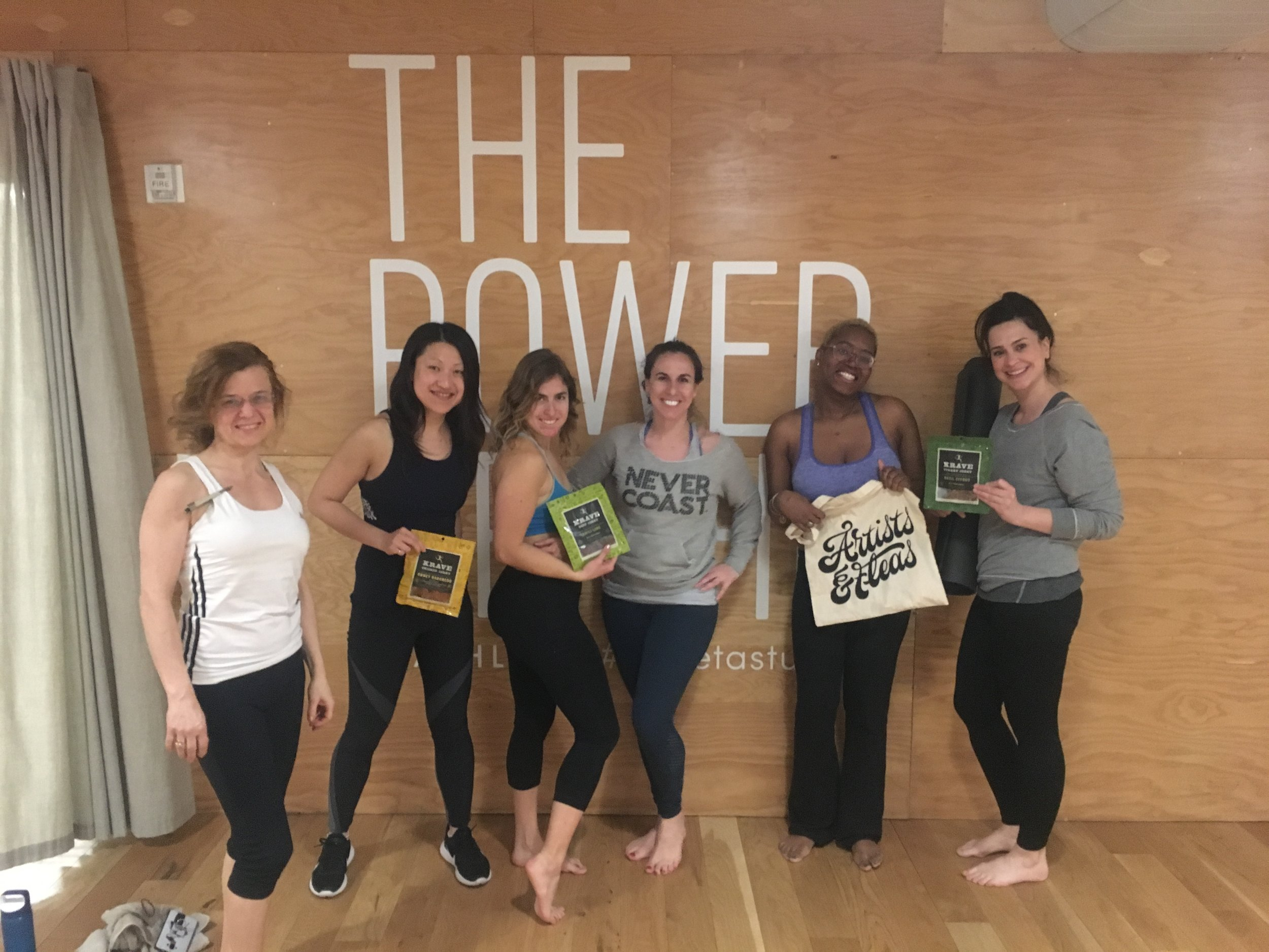 What a great crew! For March, enjoy Krave Jerky after each class!