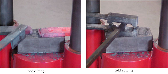 Cut-off tooling is handy for preparing stock for forging. A handheld spring cutter and the KA equal a low cost ironworker. Spring-loaded punch-press tooling can be adapted for cold punching holes. -
