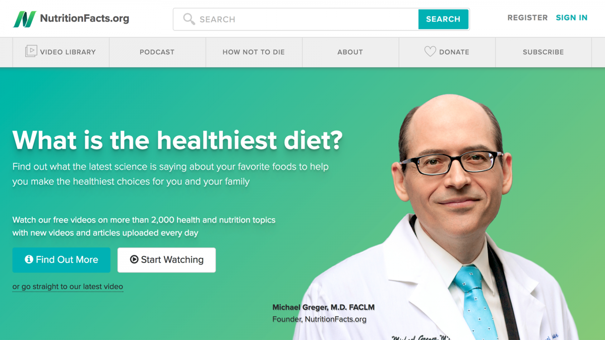 Stay up-to-date on all the latest science on nutrition and health with Dr. Michael Gregor.