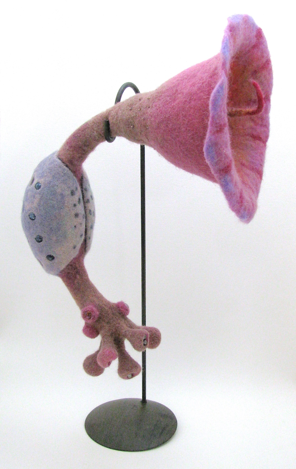 Unlocking the Wool: Sculptural Felting - June 3 - 9, 2018Arrowmont School of Arts and CraftsIn this class, both needle-felting and wet-felting techniques will be employed to create solid three-dimensional objects with an emphasis on form and color. Using wire, found objects and wool itself as armature, students interested in creating dynamic sculpture will explore their own designs. Wool varieties, tools, surface design and finishing techniques will be covered. Needle-felters wanting to try wet-felting or vice versa are encouraged to attend though all skill levels are welcome. Note: Both techniques require repetitive arm & hand motion.