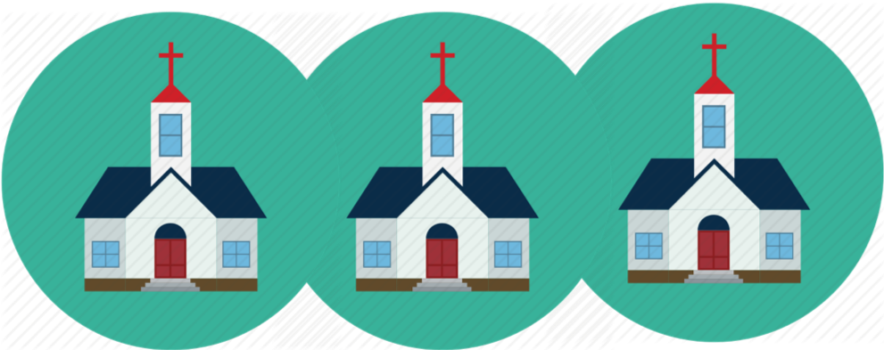 3 churches giving $5000 once -