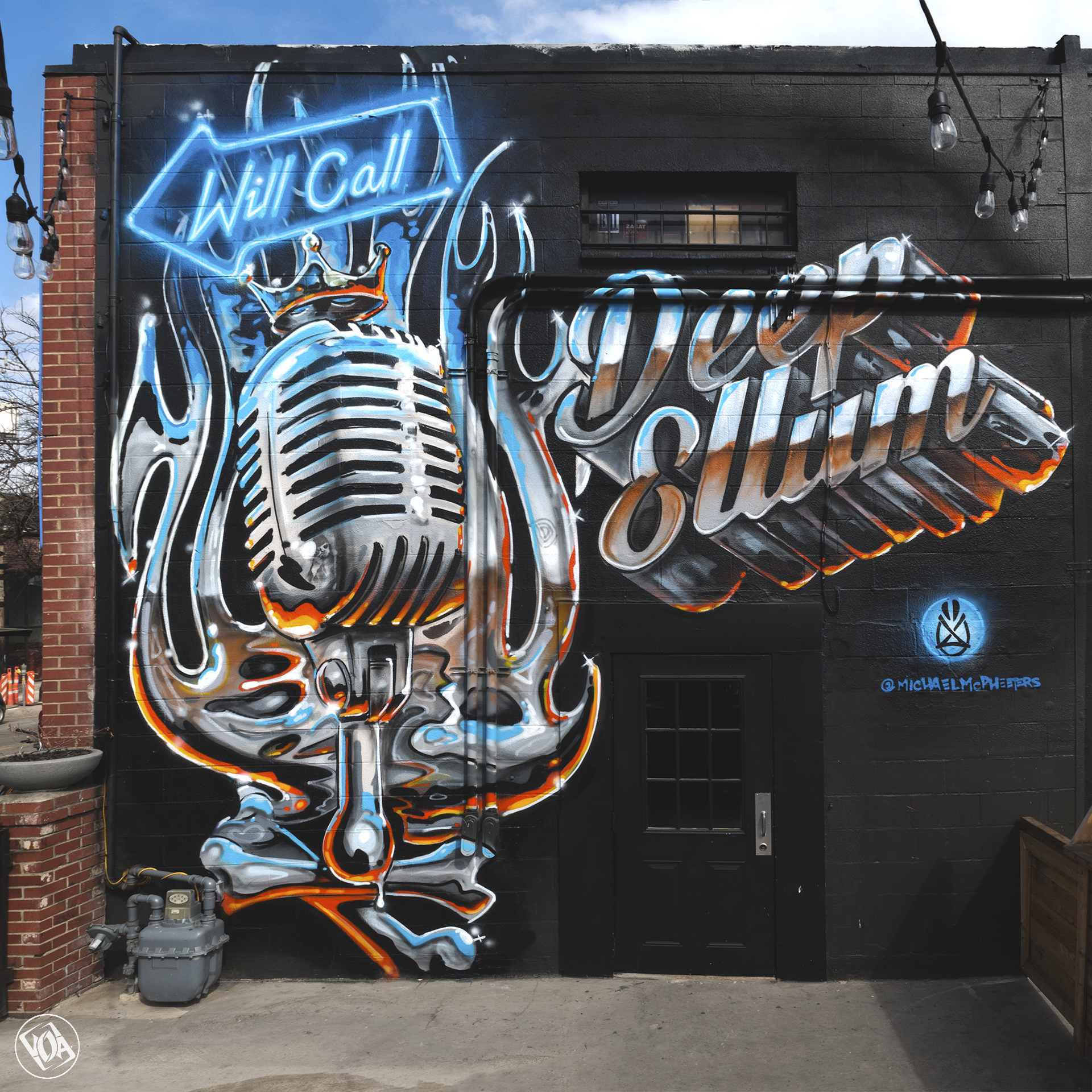 "Painting by Michael McPheeters / ""Will Call"" / Deep Ellum - Dallas, Texas."
