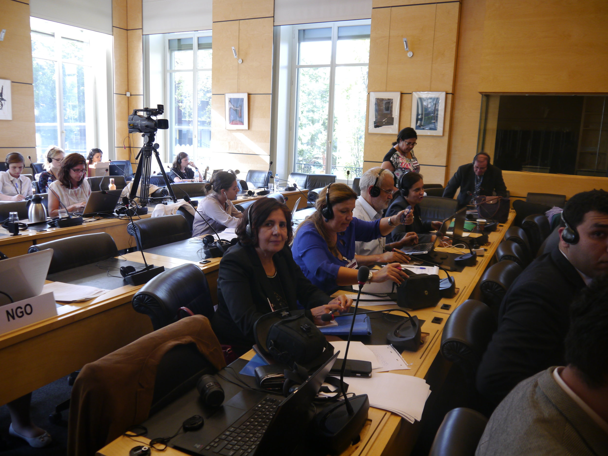 The Moroccan CSOs during the review by the CRC
