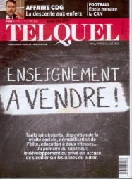 """""""Education to sell"""" – newspaper front cover"""