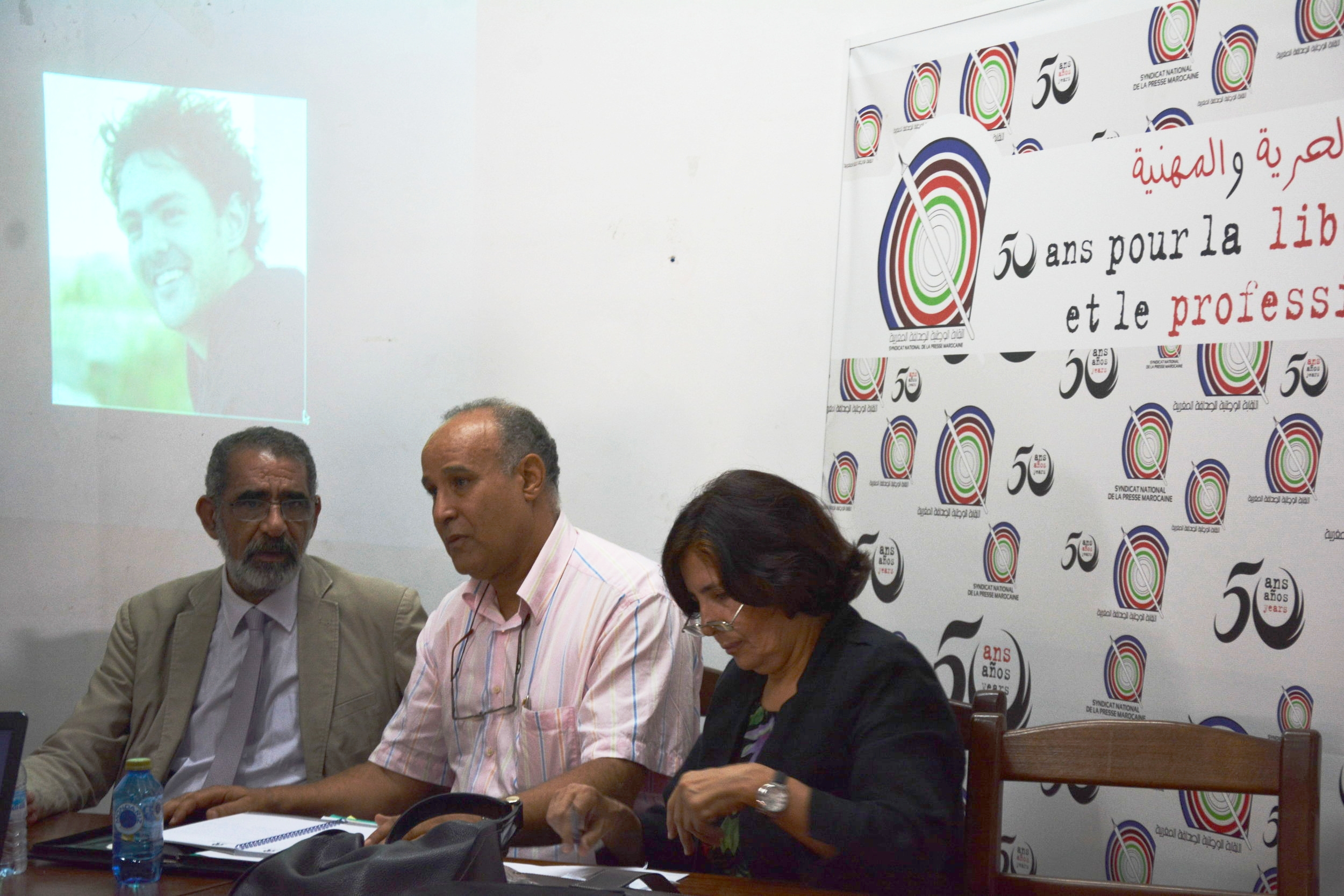 Representatives of the civil society at the September 2014 press conference