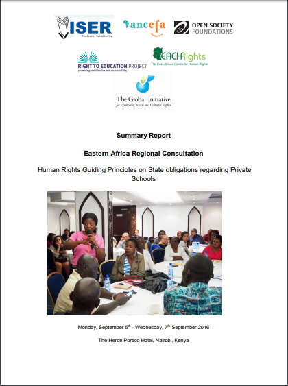 Summary Report: Eastern Africa Regional Consultation