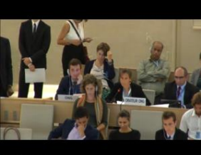 The Global Initiative ESCR made an oral statement at the Council in support of the Report and thanking the Special Rapporteur for her excellent work in the mandate.