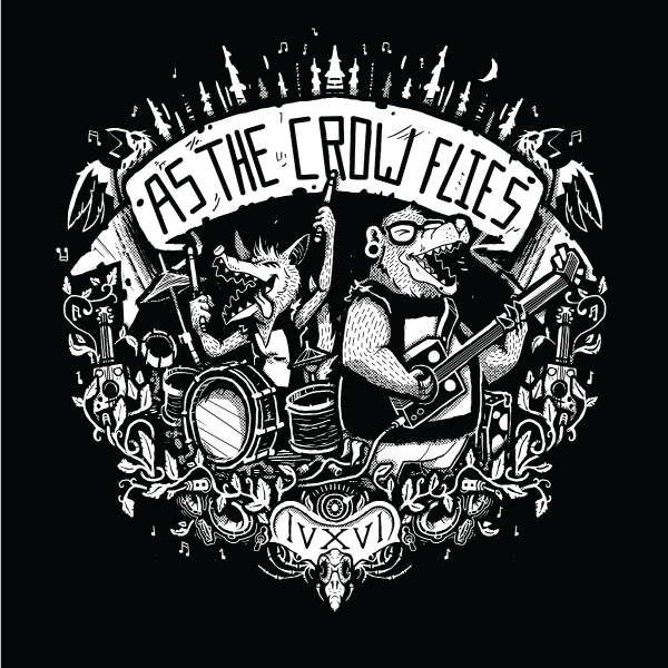 "AS THE CROW FLIES 406 - A really fun project making this band t-shirt design for the awesome guys of ""As The Crow Flies 406"". They are a rocking band based out of Bozeman Montana. Go check them out at the following links:INSTAGRAM: instagram.com/asthecrowflies406FACEBOOK: facebook.com/asthecrowflies406MERCH: asthecrowflies406.bandcamp.com/merch"