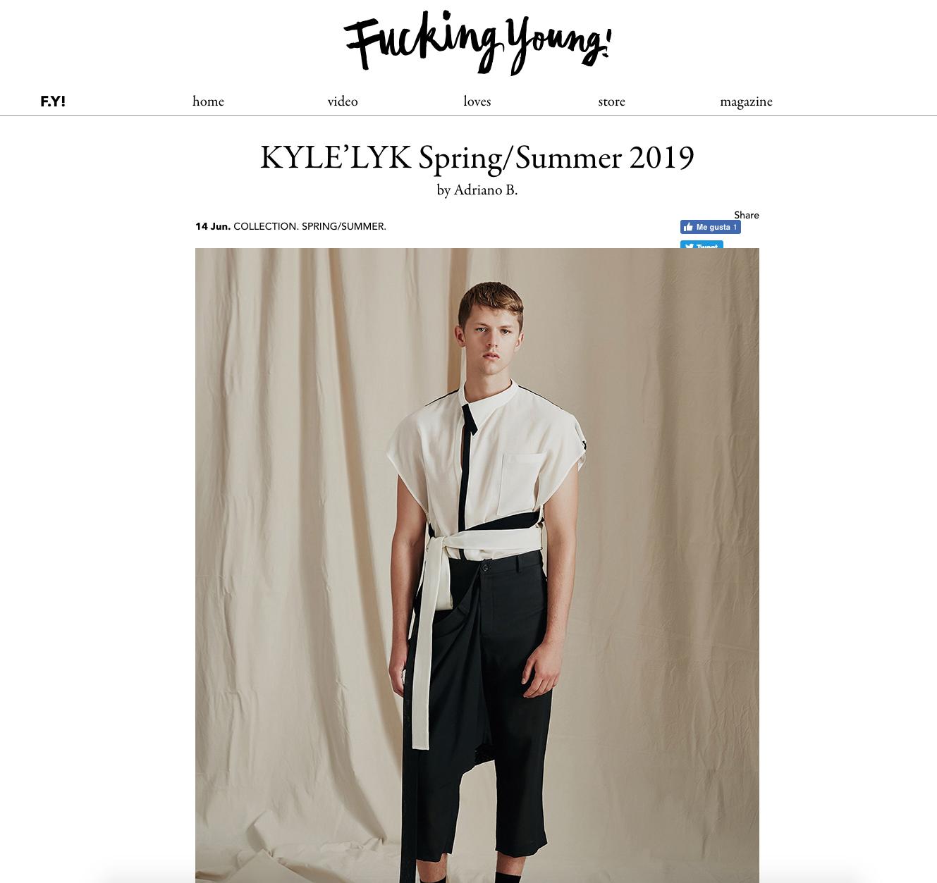 KYLE'LYK Spring/Summer 2019