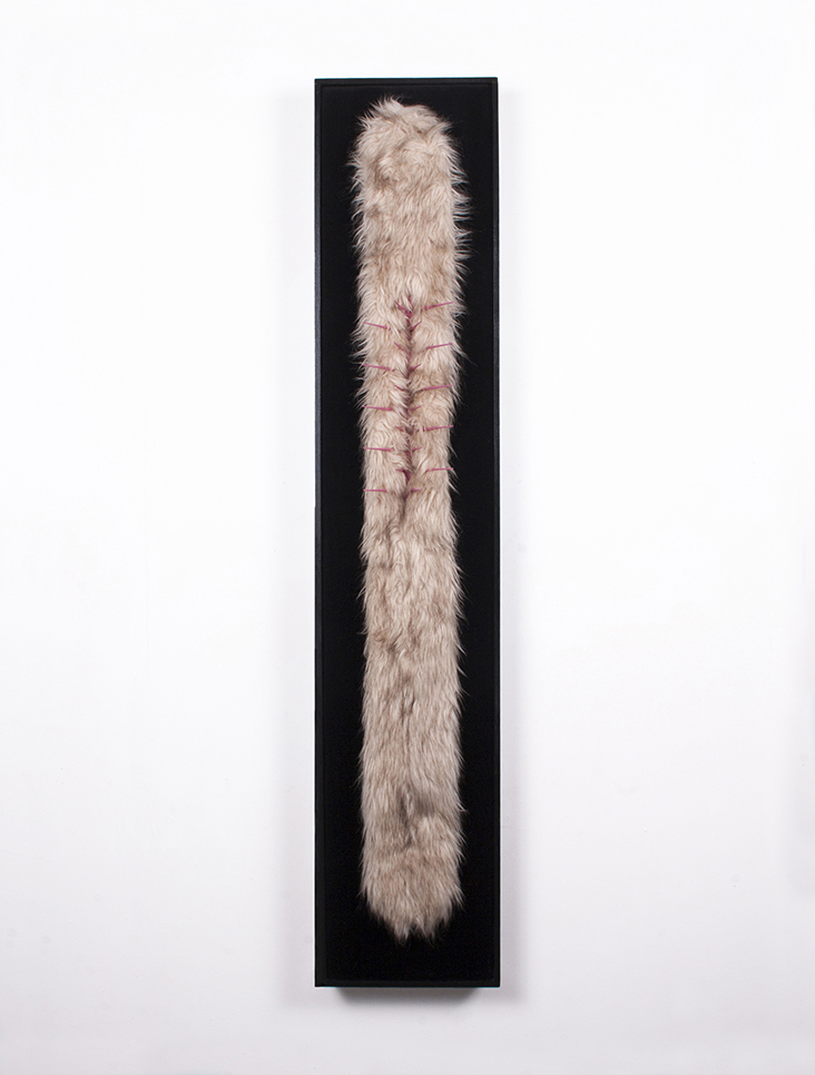 Stole 2018, mixed media, 1500mm x 300mm x 180mm.