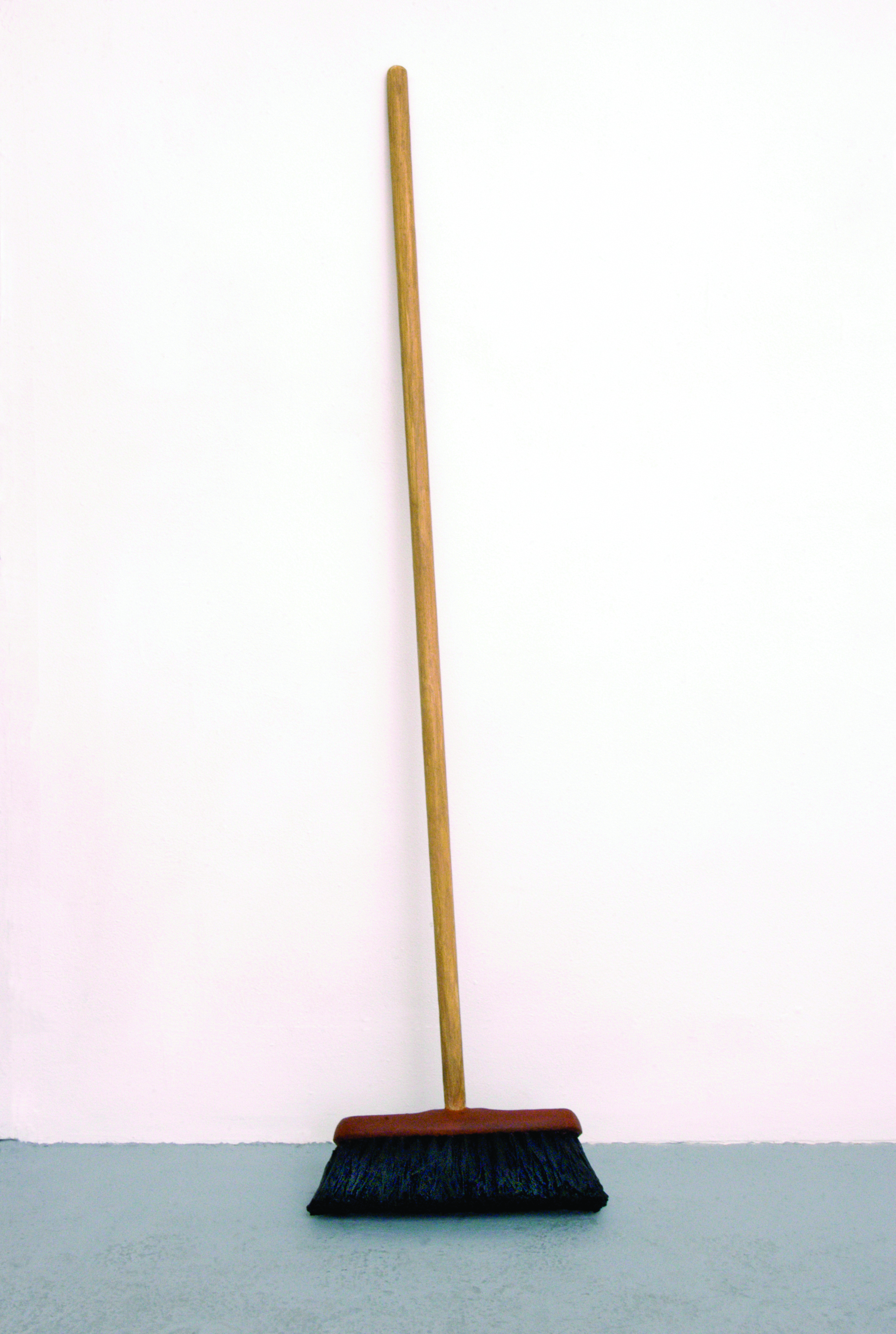 Japanese Temple  2010, wooden broom with natural bristle, oil, paint, wax, 1300 x 320 x 110mm.
