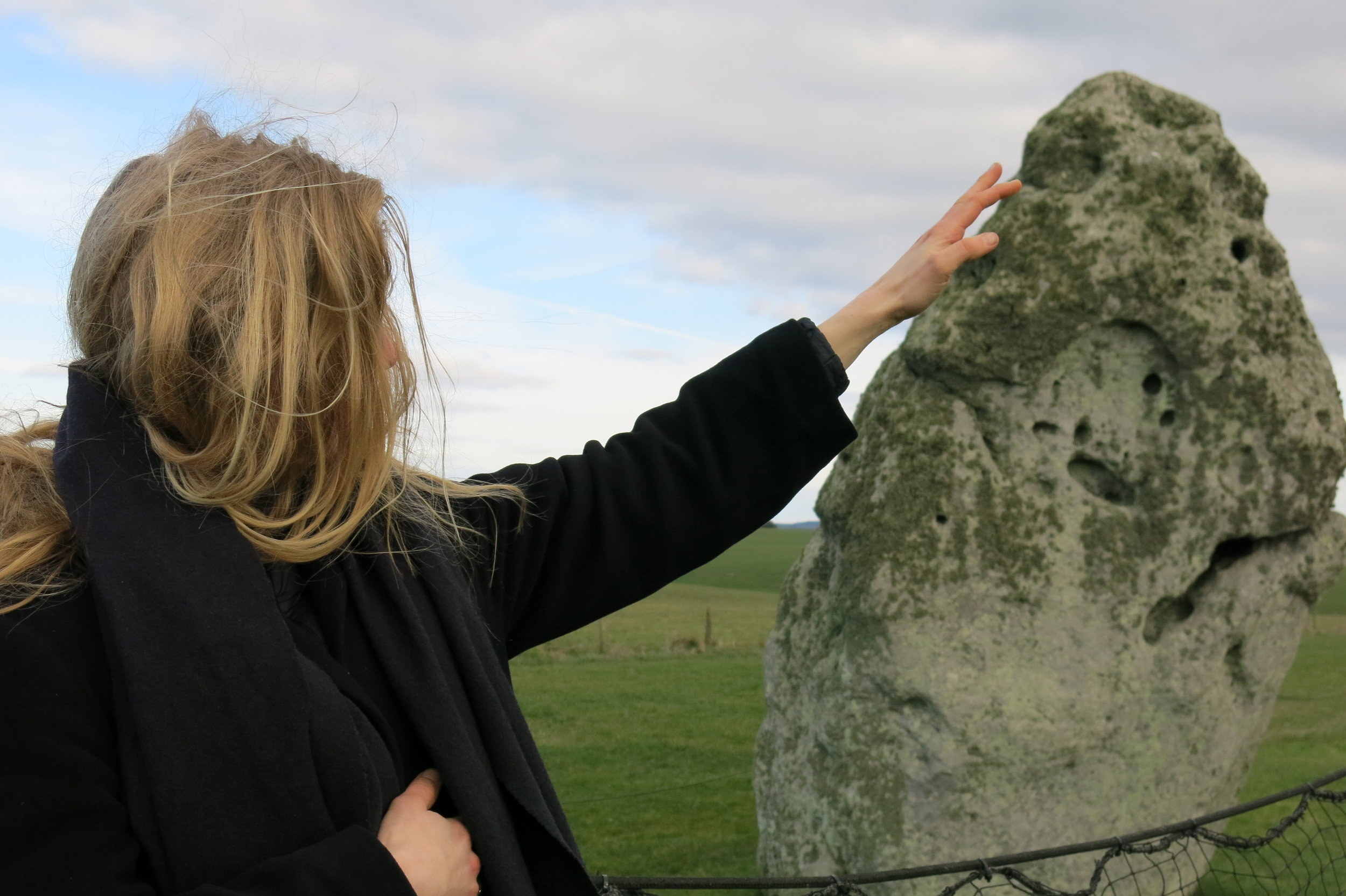 Cultivated code: a trip with mythological artefacts , 2016. Event by Stonehenge led by Matilda Tjäder as part of her residency. Image courtesy the artist and Jupiter Woods, London.