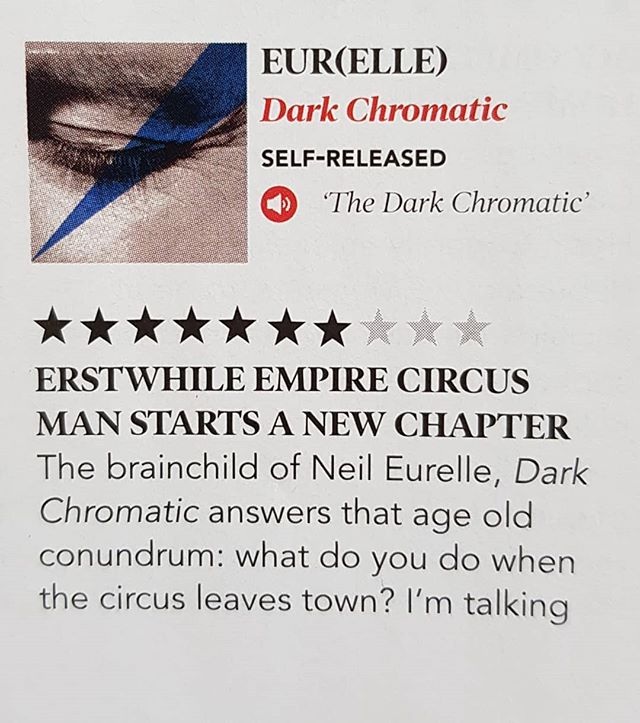"""Dark Chromatic - """"a grandiose and gorgeous listen"""" - 7/10.  Thank you @mcfeesy @hotpressmagazine and Roisin Dwyer for the 7/10 album review & the Soapbox piece in the latest issue.  Hotpress & Dark Chromatic are both out now!! Grab a copy of each.  #albumreview #hotpress #magazine #music #ireland #eurelle #darkchromatic"""