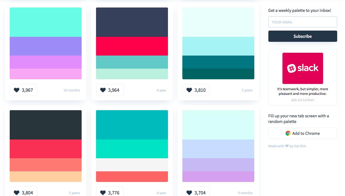 colorhunt palettes
