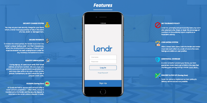 Lendr Features