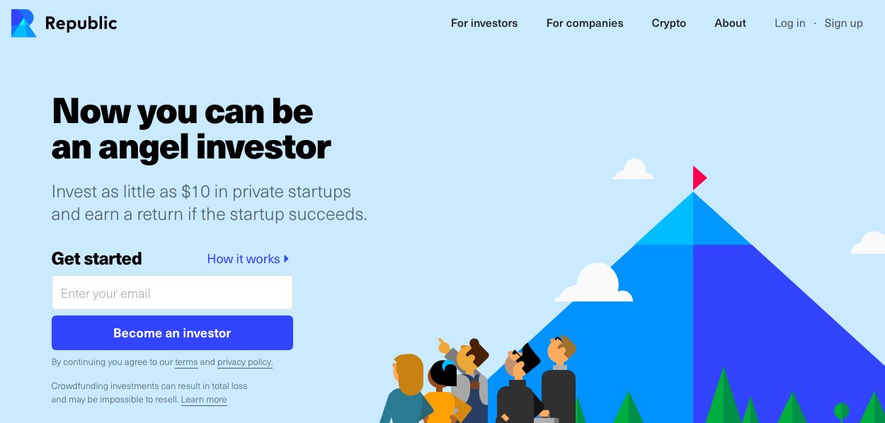 Republic Homepage Screenshot