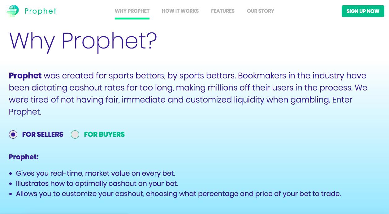 Prophet Sports Betting Marketplace