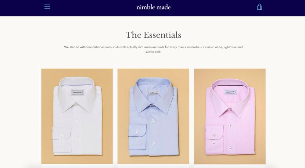 Nimble Made  website