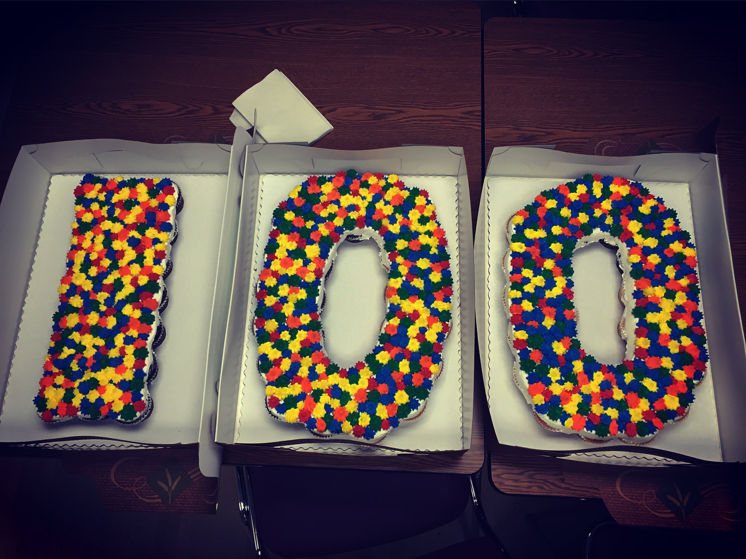 100 DAYS OLD! Another excuse to celebrate and give the NICU staff a sugar high