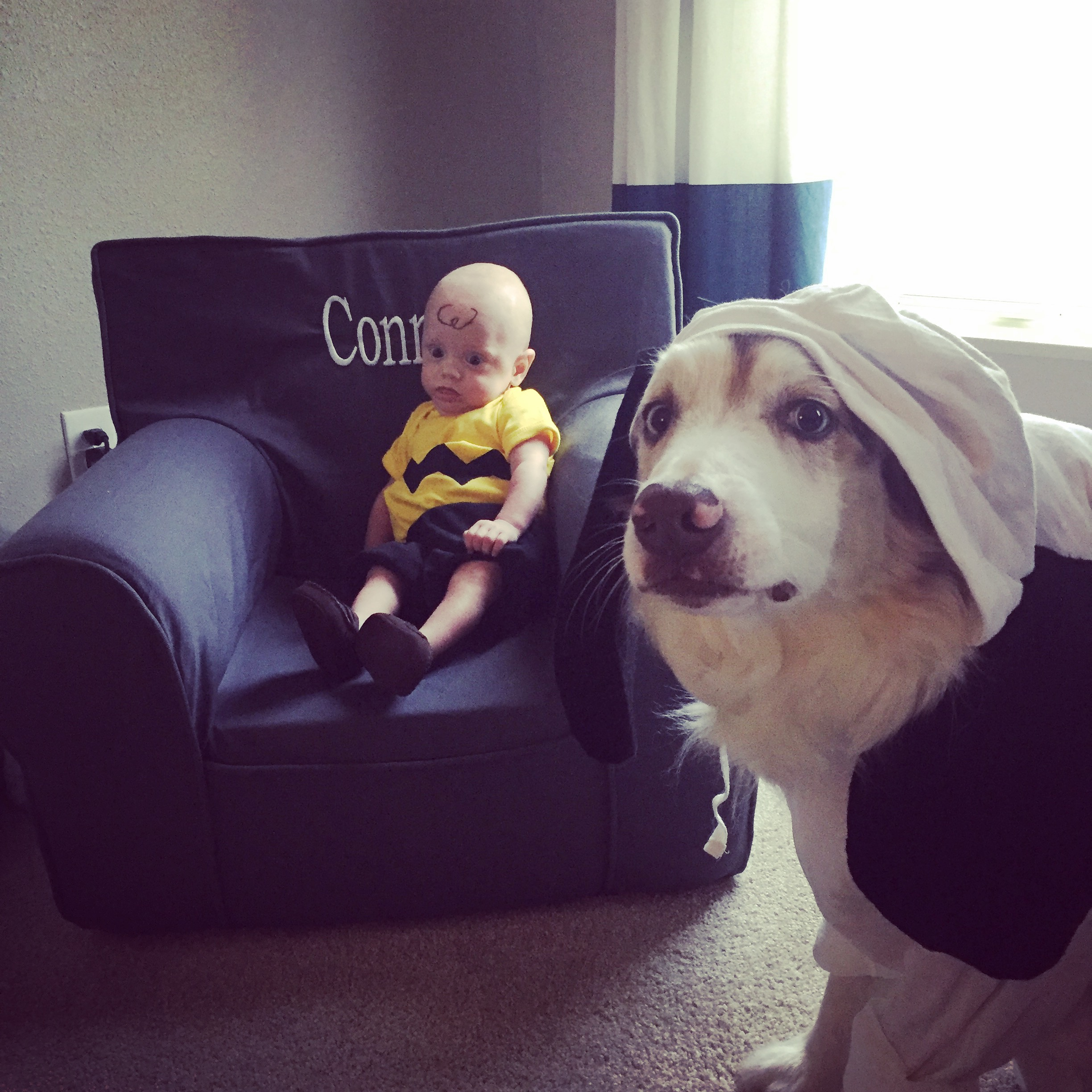 First Halloween - Charlie Brown and Snoopy!