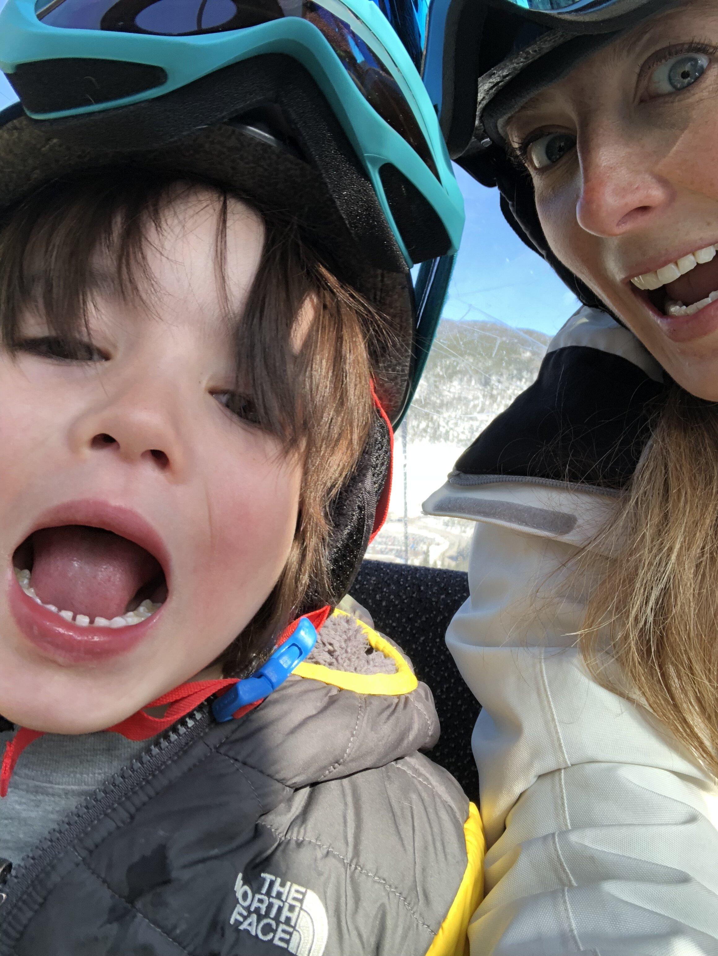 Aliie Horner + her son