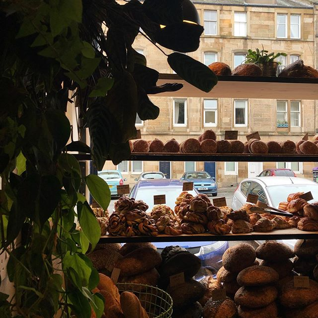 Sometimes you just find perfection in the form of a small bakery, off the buzz of the city. . . . #edinburgh #freshlybaked #breakfast #slowsunday