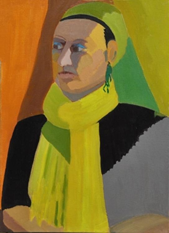 "The Turban - oil on canvas 12"" X 16"" (2014)"