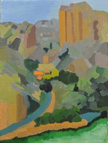 "Viguera Canyon - oil on canvas 16""x 20"" (2014)"