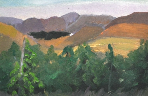 "Methow Valley - Oil on Canva paper, 5""x 7"""