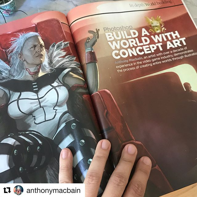 #Repost @anthonymacbain ・・・ Got my physical copy in the mail today from @imaginefxmagazine!  That means (I think) it should be available at your favorite book/magazine shop in the United States finally. Please pick up a copy!  My feature is about #worldbuilding through concept art. And the image I create in the workshop is of the evil Madrak from @tritoncityent's first story Dawn of the Paladin. #conceptart #digitalillustration #imaginefx #dawnofthepaladin #characterdesign #tritoncityentertainment