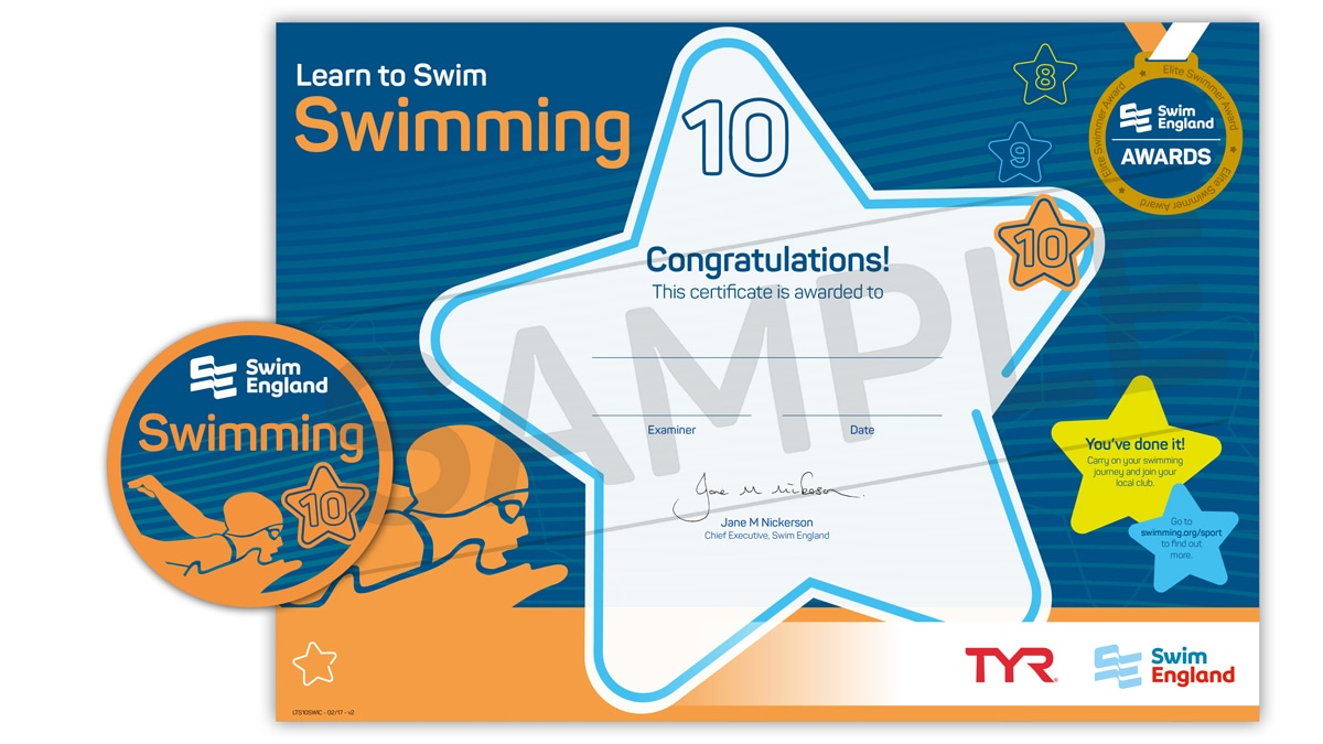 Learn to Swim Awards (higher levels)