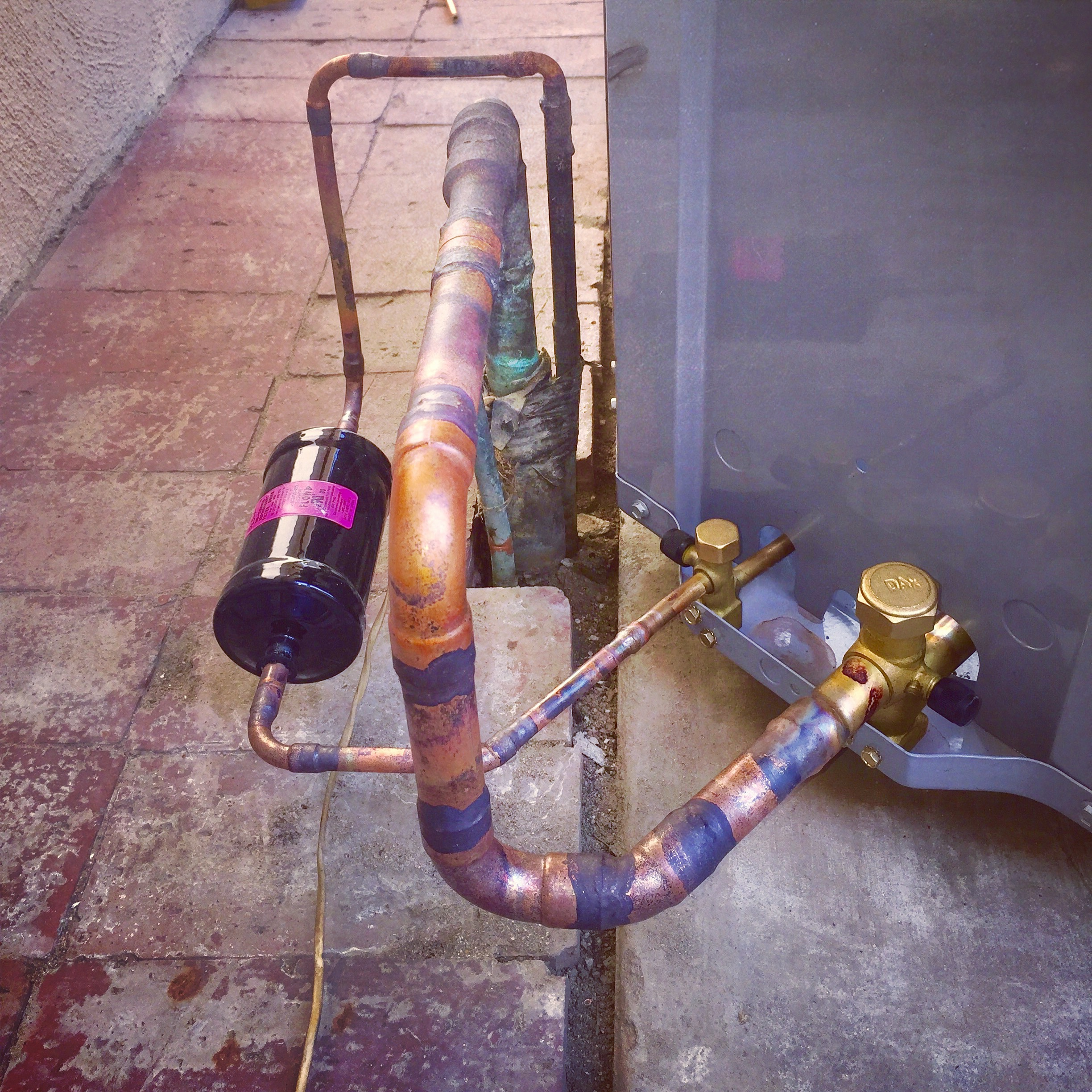 Sometimes a little bit of custom pipe work is needed.
