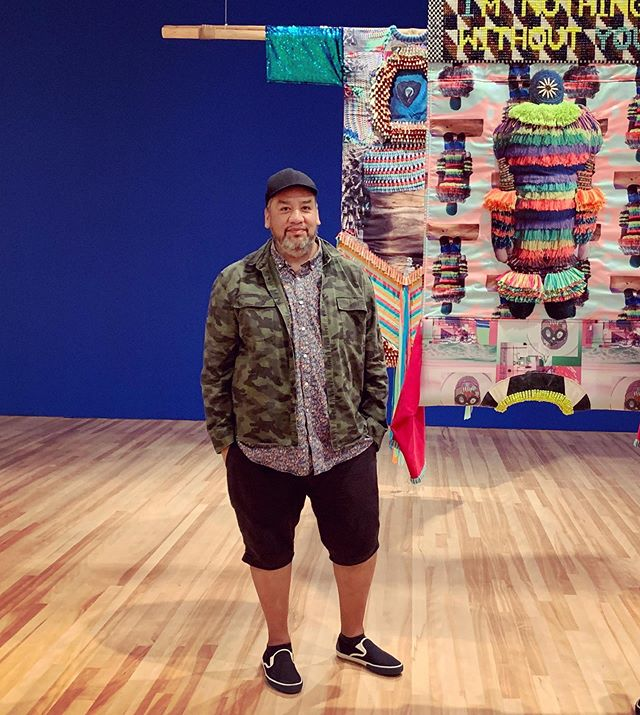 """A giant congratulations to collaborator Jeffrey Gibson on being awarded a 2019 John D. And Catherine T. MacArthur Fellowship! Deserving, to say the least.  As the Foundation President, John Palfrey stated,""""...this year's extraordinary MacArthur Fellows demonstrate the power of individual creativity to reframe old problems, spur reflection, create new knowledge, and better the world for everyone. They give us reason for hope, and they inspire us all to follow our own creative instincts."""" We're excited to see what happens next~ @macfound #macarthurfellow #jeffreygibson #contemporaryart #arteducation"""