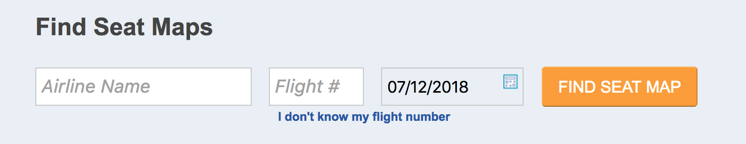Step 1 - Enter airline name and flight number