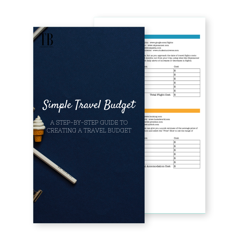 Simple Travel Budget Worksheet - Use the free worksheet to put together your own travel budget for your next trip.