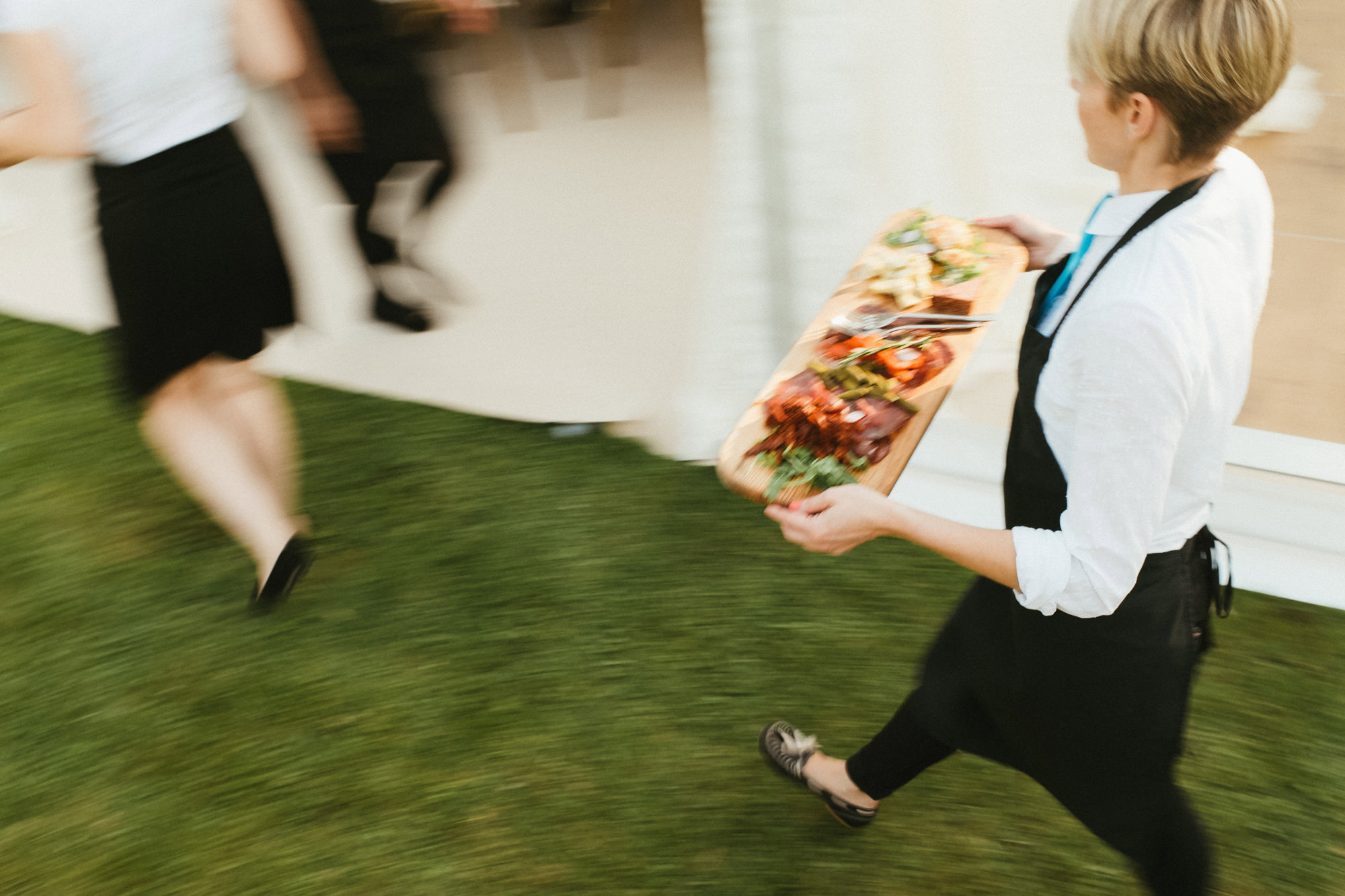 Starters are served at Devon wedding.jpg