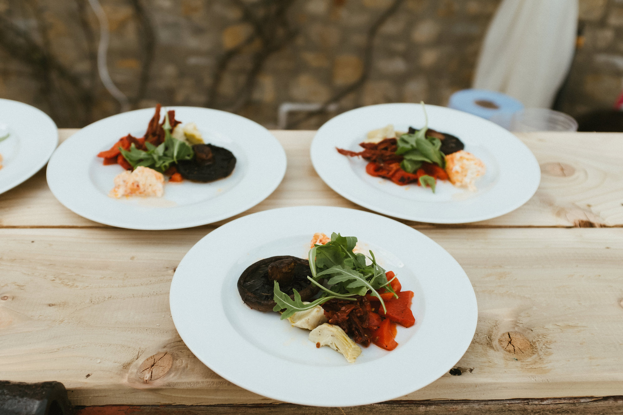 Vegetarian starters- Dorset wedding.jpg