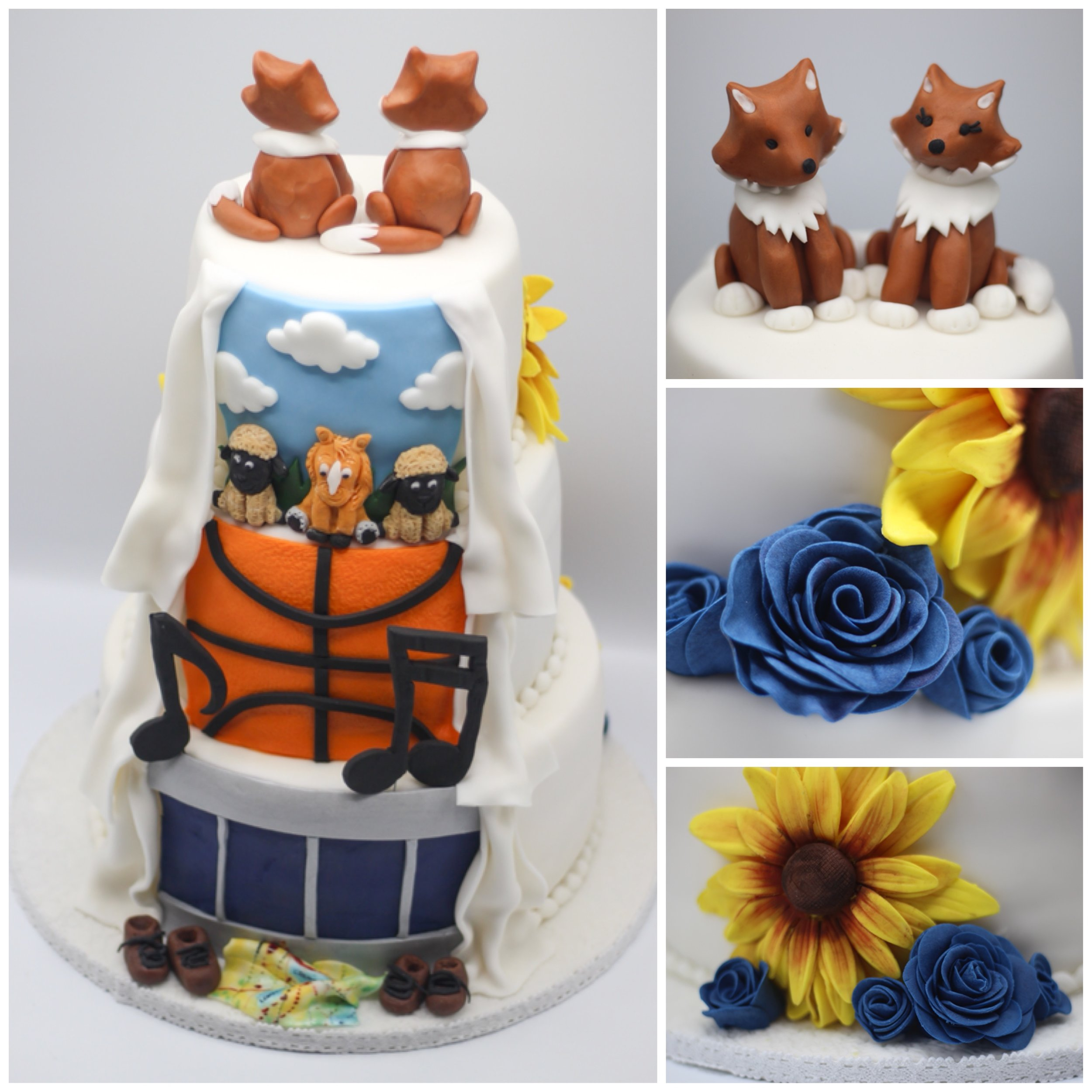 Multi-tiered cake - Multi-tiered cakes are not just for weddings! When designing a multi-tiered cake please use the prices published above for reference as there is no extra charge for the internal cake dowels and supports or the process of stacking.