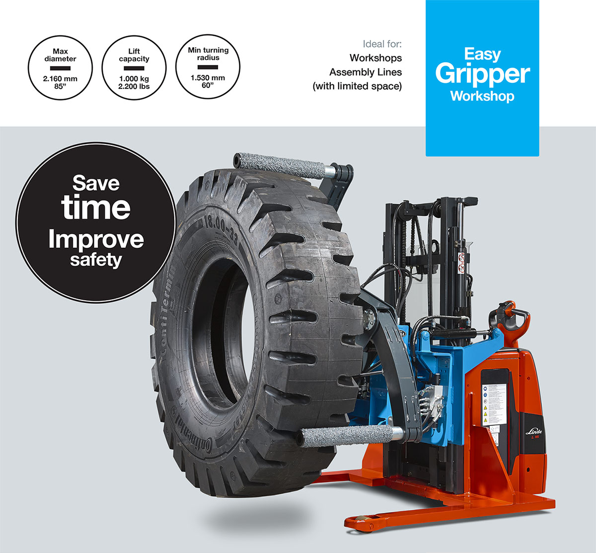 Easy GripperWorkshop - Professional tyre handling tools for workshops and assembly lines