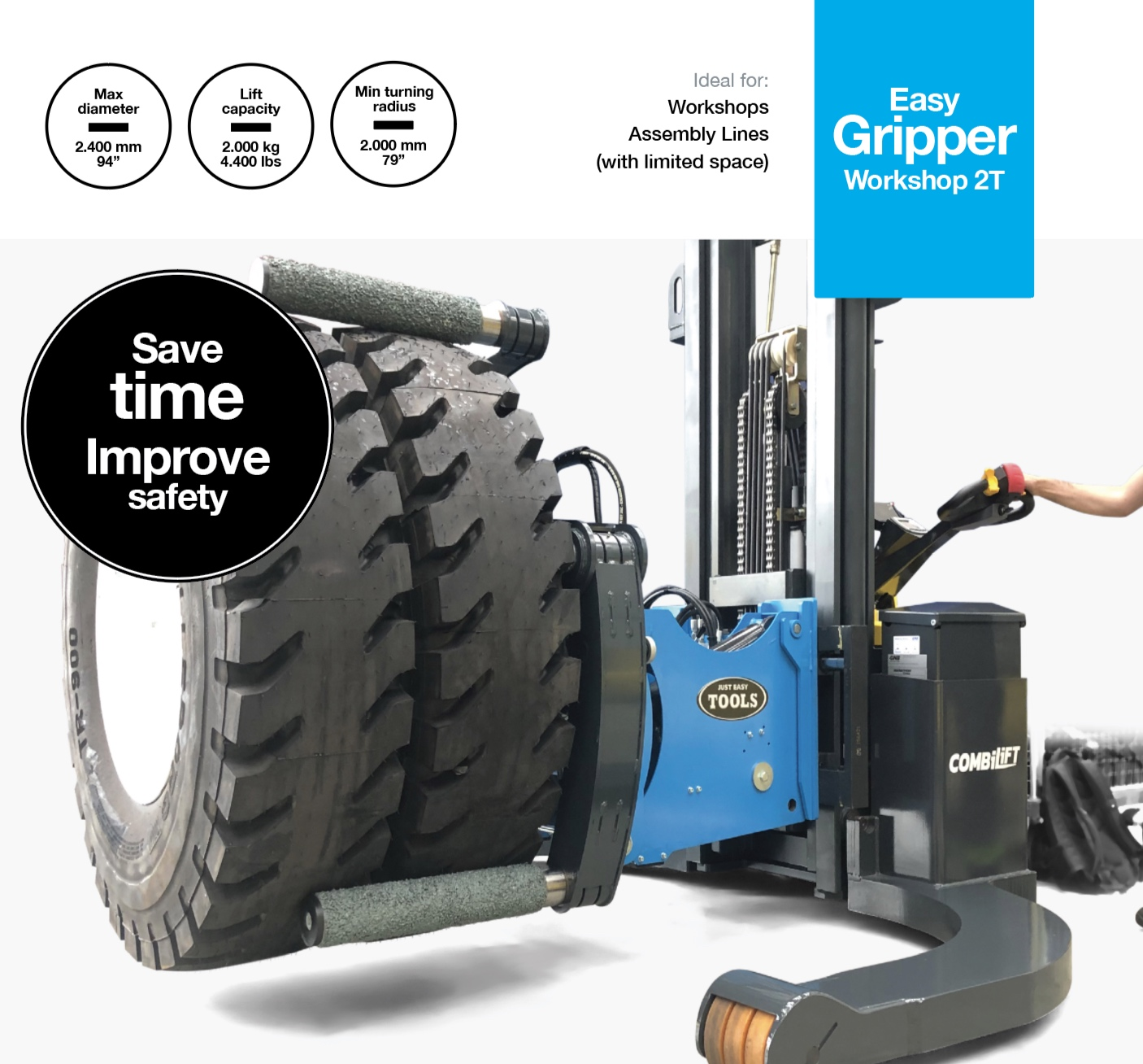 Easy GripperWorkshop 2T - Professional tyre handling tools for workshops and assembly lines