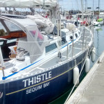 Thistle, the ship that Graham and his father sailed across the Pacific.