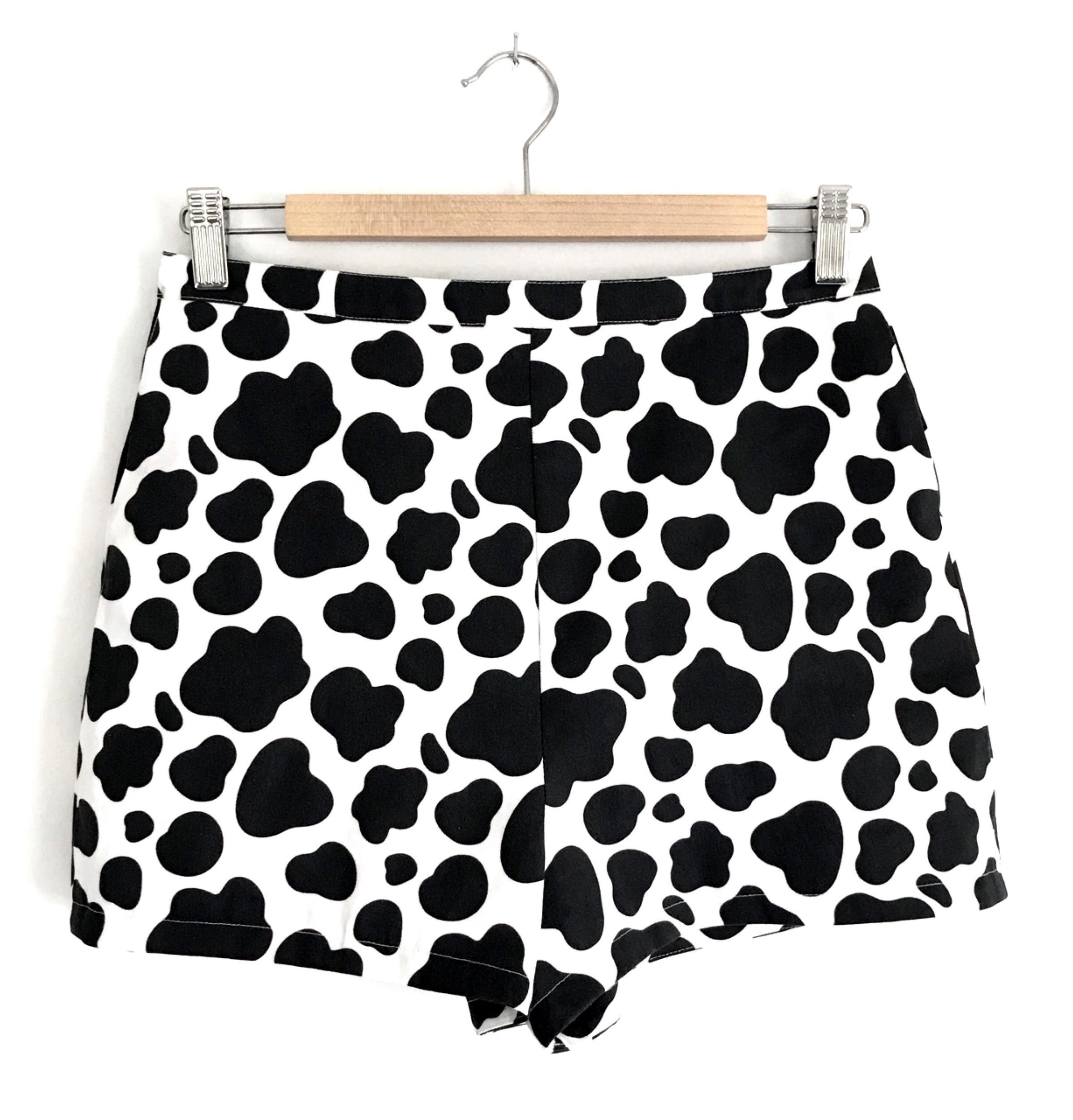 Reba's Cow Shorts - front view -