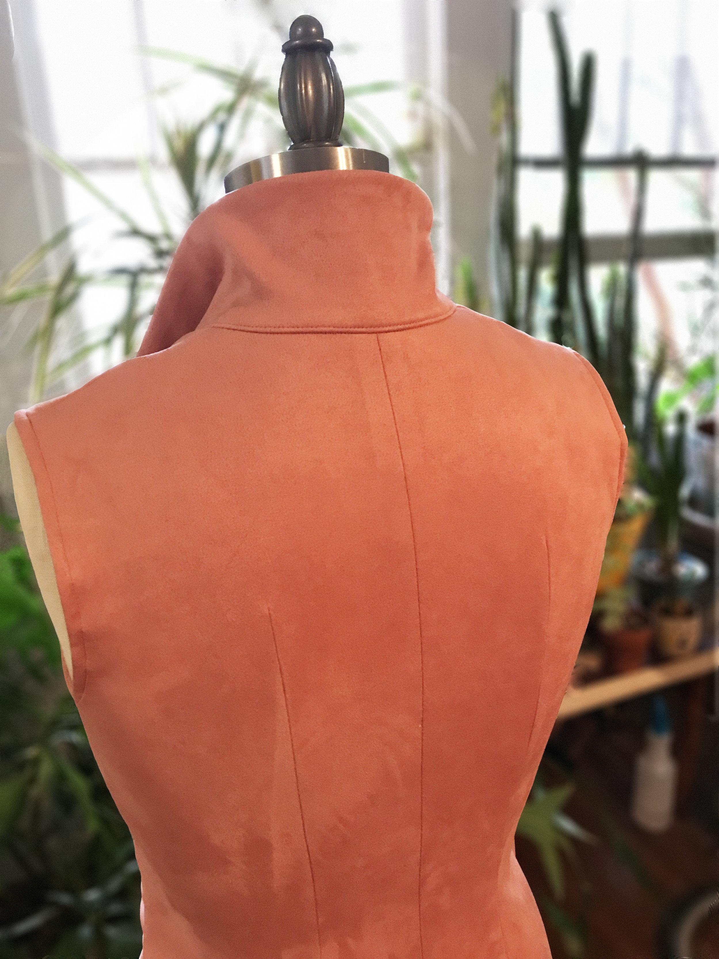Back Detail - Faux suede