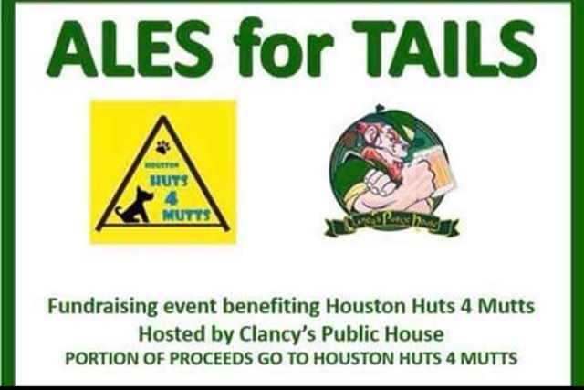 "Please mark your calendars September 21st for our 2nd annual ""Ales for Tails"" fundraising event! Last year was soooooo much fun! It was so nice to get to hang out with all the volunteers without being knee deep in rotten dog poop!  503 FM 359 Rd, 118 Richmond, Texas 77406"