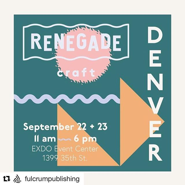 "Denver! We will be at the Renegade Craft Fair this weekend selling the ""Colorful Colorado Coloring Journal""!!! Come say hi 👋Saturday & Sunday, 11 am - 6 pm, outside the Exdo Event Center in RiNo, 1399 35th St."