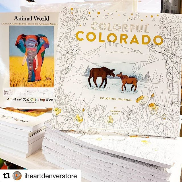 Lovely post from the  @iheartdenverstore - this store is a must stop for holiday shopping! ・・・ We have these wonderful coloring books at I Heart Denver Store. Drawn and locally published by a Colorado artist. A great way to get a daily creative break or give as a gift to a kid who loves to color!