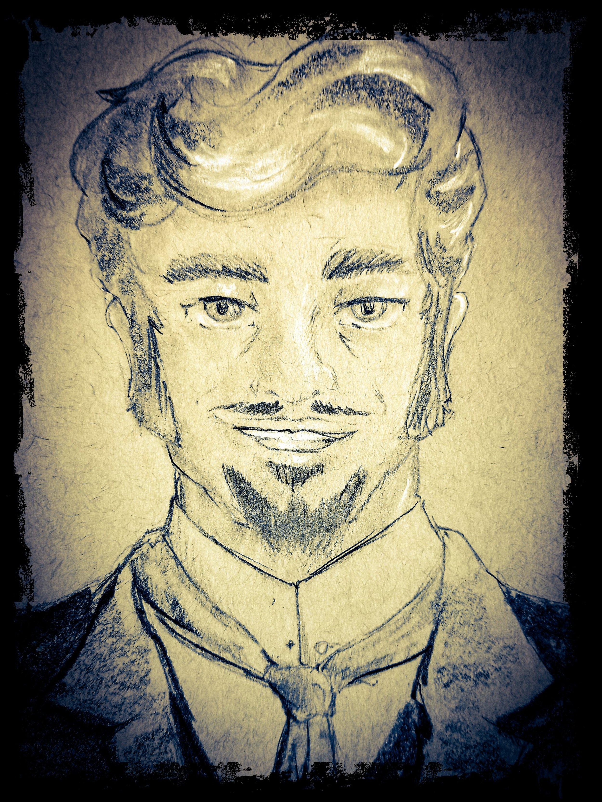 Sir Ralph Maddock portrait done by  Stylus