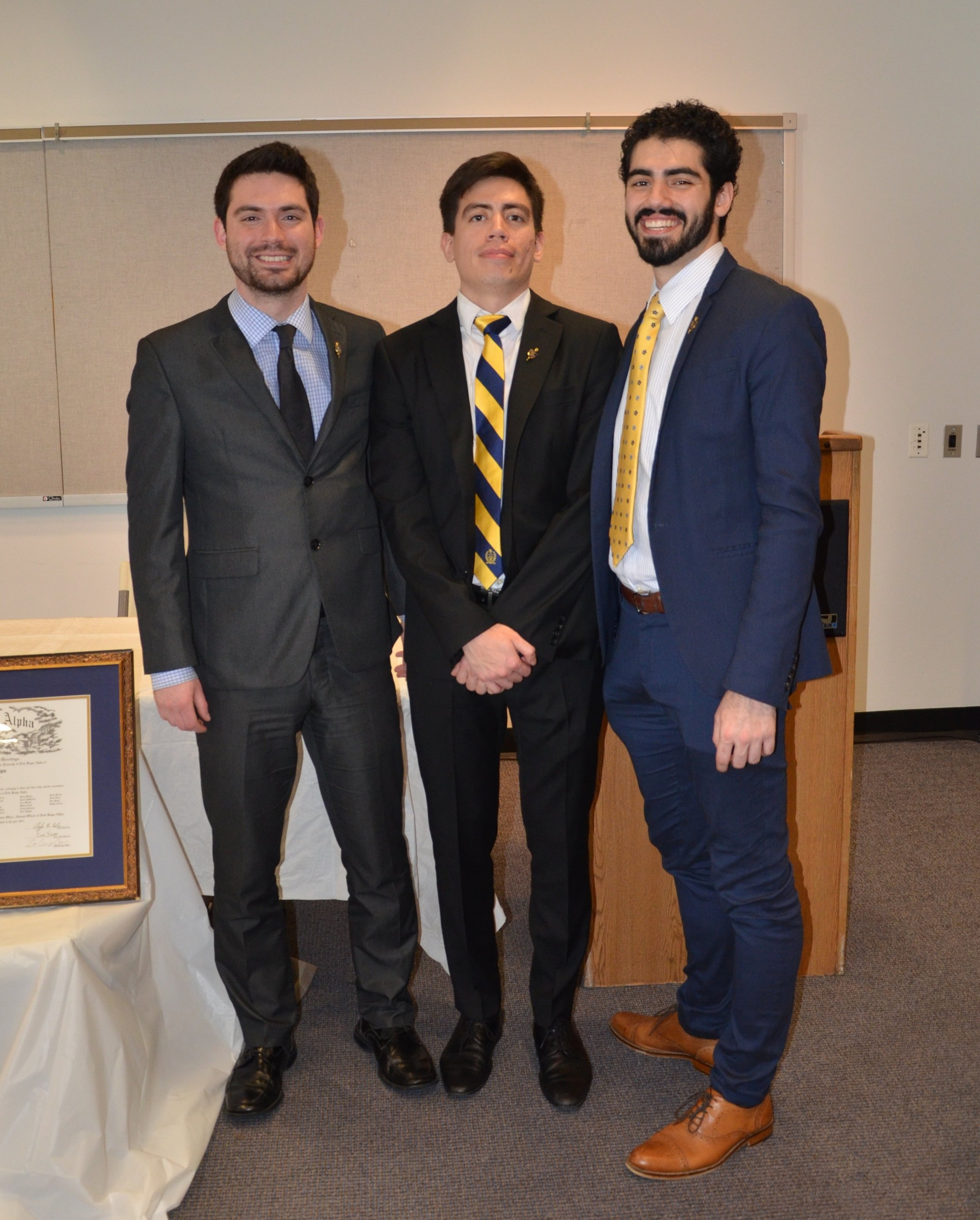 Mu Chapter Chartering Ceremony, Spring 2017